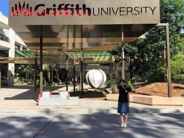 グリフィス大学ネイサンキャンパスの入り口。キャンパスは森に囲まれ、自然豊かな環境にあります