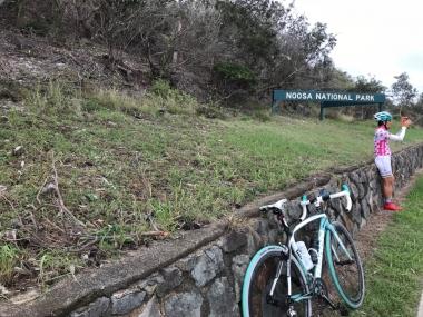 国立公園エリア内にも車道と自転車レーンが走っています