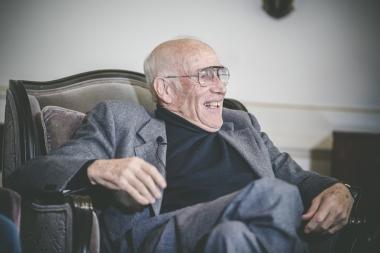 終始笑顔だったアソス創業者のトニ・マイヤー