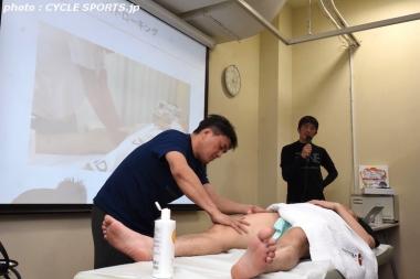 日本ナショナルチームの現役マッサーの技が見られたのは受講者には貴重な体験だ