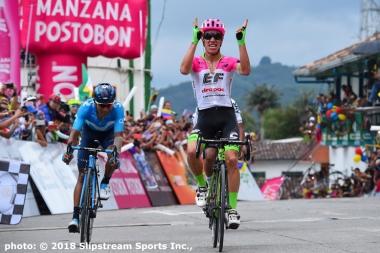 コロンビア選手4人で競った第5ステージのスプリントを制したのは最年長のウランだった