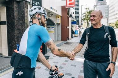 この挑戦を見届けようとジャックのお父さんがオーストラリアから大阪に来ていた!