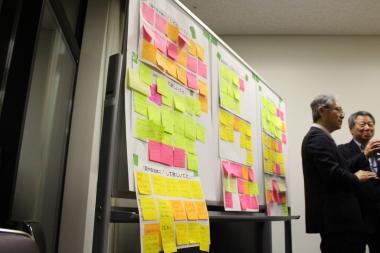 ワークショップでは参加者がそれぞれ「国や自治体にして欲しいこと」、「困っていること」、「やってみたいこと」などを出し合った