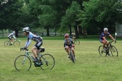 毎回盛り上がる自転車鬼ごっこ Photo:サイクルスポーツ編集部