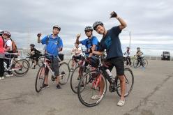 大阪府立大学体育会サイクリング部ツーリング班の面々も参加。昨日まで鳥取をツーリングした後とのこと