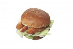 久米島は車エビの養殖生産量が日本一。空港内の売店で食べられる特製の車エビバーガー