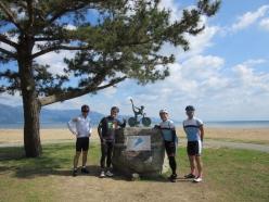 スタート地点に選んだのは、守山市琵琶湖岸第二なぎさ公園内「琵琶湖サイクリストの聖地碑」