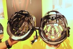 前作までのミップス(左)に比べ、頭を支える面が少なくなったことで風の通りも良くなり、快適性も向上