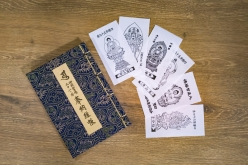 6か所の御朱印が書き込まれた納経帳と、それぞれのご本尊が描かれた「御姿(おすがた)」も集まった