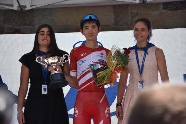 2019年7月に開催されたスペインでのUCI1クラスのワンディレースで7位入賞した石上優大。U23最優秀賞も受賞した。©︎EQADS