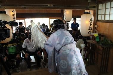 「広域サイクルルート連携事業交通安全祈願祭」が執り行われた