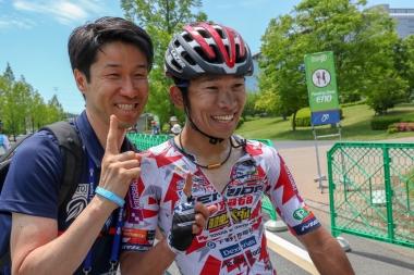 2018年TOJ京都ステージで優勝した雨澤
