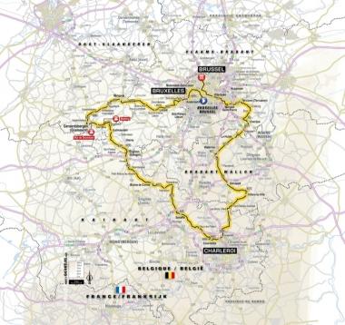 第1ステージのコース (MAP : ASO)
