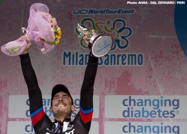 昨年ミラノ〜サンレモで初優勝したジョン・デゲンコルプ(ジャイアント・アルペシン)