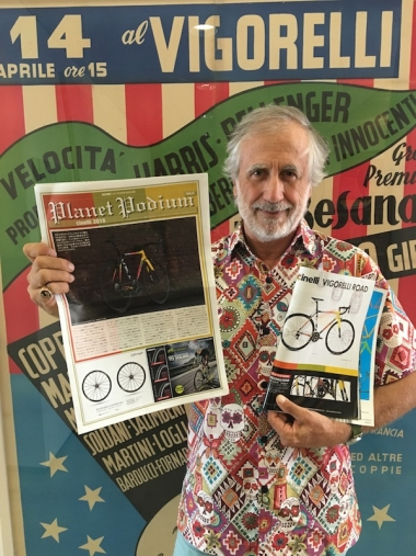 自転車用のスチールパイプメーカーであるコロンブス社の創業者であり、チネリの現代表を務めるコロンボ氏。アートの世界にも精通しており「あらゆる時代、あらゆる大陸に好きな画家が100人ずついる」と語るほど。