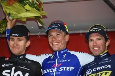 昨年の表彰台。左から2位のクフィアトコフスキー、優勝したジルベール、3位のアルバズィーニ
