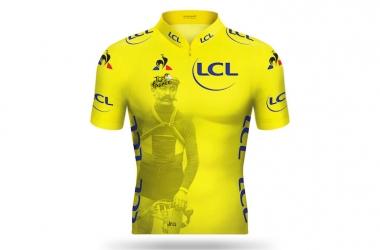 ●第13ステージのマイヨ・ジョーヌ(最初のマイヨ・ジョーヌを着用したフランスのユージェヌ・クリストフ)