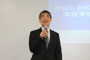 充電ネットネットワーク拡充には、E-Spo(静岡県東部地域スポーツ産業振興協議会)による迅速な対応が貢献。同会副会長の青山茂氏も伊豆のスポーツ振興の意義を語った