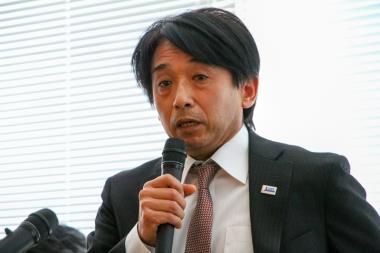 中長期の方針について語る片山右京理事長