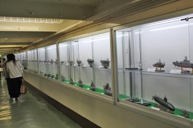世界三大記念艦三笠では、実際の艦内の紹介だけでなく「艦隊コレクション展」なども開催されている